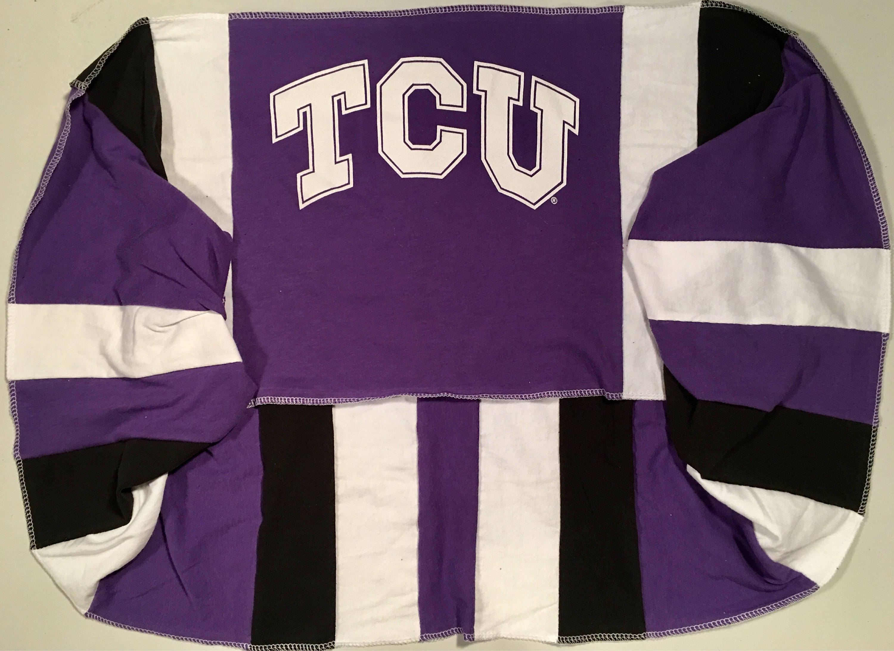 Infinity Scarf TCU TEXAS Christian University Horned FROGS Team Spirit Upcycled Woman's Loop T-Shirt New Handmade Scarves