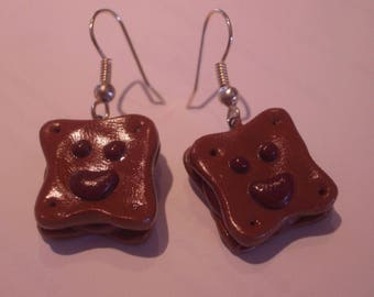 FANCY CHOCOLATE POLYMER CLAY EARRINGS
