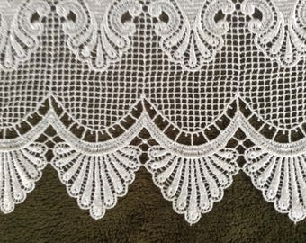 Delicate Brussels Lace curtain, valance