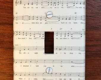 Sunshine lullaby light switch cover switch plate // You Are My Sunshine sheet music // SAME DAY SHIPPING! **