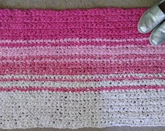 Handcrafted Reversible Crochet Rag Rug