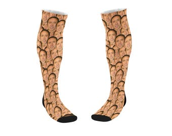 Nicolas Cage face socks - Christmas socks, funny tube socks, Meme socks , Dad socks, Present socks, Sport socks 9M049