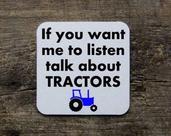 Funny farmer coaster/tractor coaster/farmer gift/gift for farmer/farmer coaster/funny farmer gift/funny farmer coaster/coaster/Farming Gift