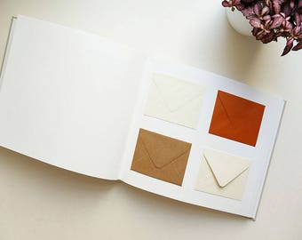 Wedding guest book / / 80 envelopes