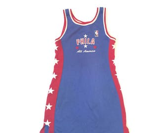 Vintage NBA Blue Jersey Phili Dress