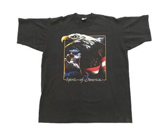 Vintage Spirit of America Bald Eagle T-Shirt