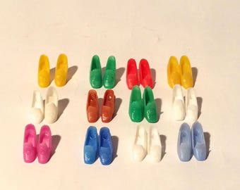 Vintage 1970s Pair of High Heeled Barbie Shoes (Select Color)