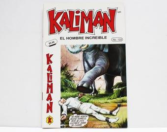 Kaliman El Hombre Increible No 133 El Faraon Sagrado y El Dragon Rojo Revista en Español Comic Book in Spanish RARE