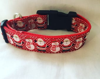 red christmas dog collar