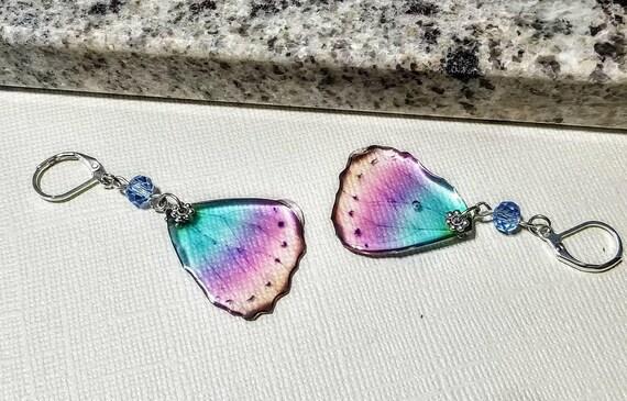 Soft Rainbow Mini Butterfly Wings Earrings