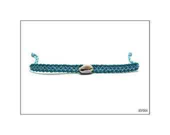 Macrame Friendship Bracelet with Seashells - BSF004