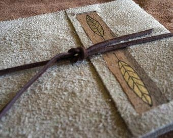 Rustic Leather Journal, Landscape Large