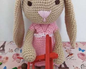 Soft toy#bunny yarn#girl#for kids#