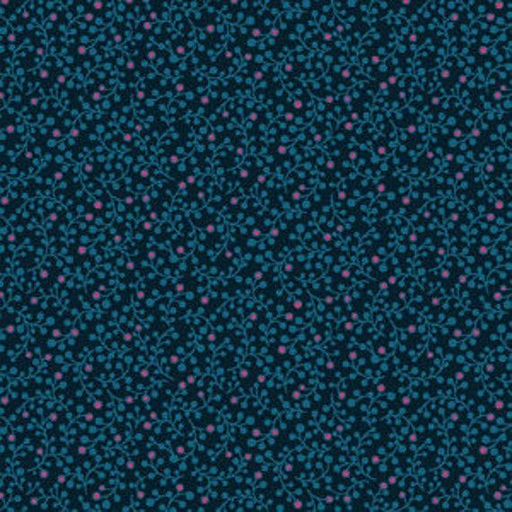 Botanica by Makower for Andover Fabrics - Mini Berry in Blue - Fat Quarter