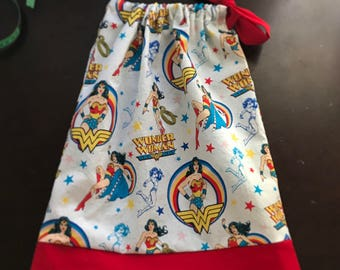 Wonder Woman pillowcase Dress, Infant Toddler Girl Dress, Birthday Dress, Beach Dress, Girls Boutique Dress