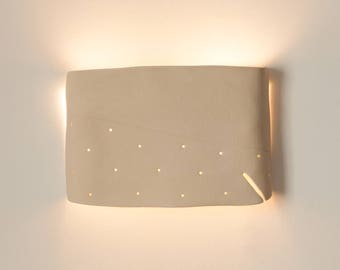 Ceramic wall light fixture  Handmade ceramic wall lamp.