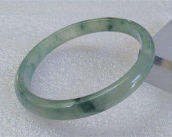 Jadeite Bangle Certified Natural icy princess cut