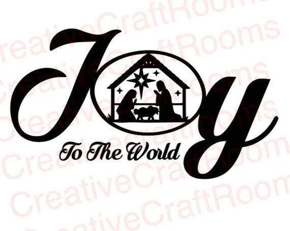 Joy to the world Png, Christmas, Jesus, Christianity, Nativity Scene Silhouette, Birth of Jesus, Silhouette scene, Cricut print and cut