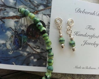 Czech glass and sterling Jewelry set