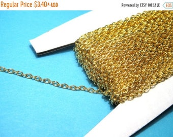 50% OFF Clearance Sale-- Gold Plated Cable Chains Link-Opened 3x2mm(No.382)