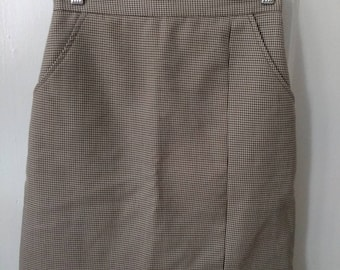 Vintage Houndstooth Skirt