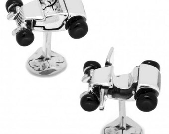 Ox and Bull Movable Hot Rod Car Cufflinks