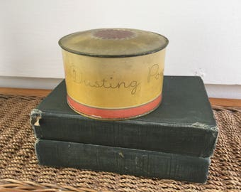 Vintage Tin Powder Jar - Yankee Clover -  Dusting Powder