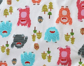 Fabric - Michael Miller - Big foot boogie - cotton flannel.