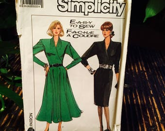1987 Simplicity Easy To Sew Dress Sewing Pattern No 8167 Size 10 EUR 38