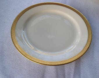 """Vintage 1920's  Tirschenreuth P.T. rare """"The Bray"""" Gold encrusted Bavarian china salad  plates 8"""""""
