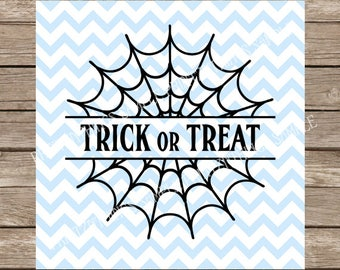 Trick or Treat SVG, Halloween, Halloween svg, Fall svg, Spooky svg, Spooky, Spider web svg, Web, Spider web, Monogram svg, Monogram, Fall