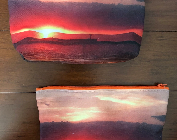 "Sunset at Olcott, NY or a beach anywhere / 2 1/2"" x 7"" x 9"" or 5"" x 7"" or 6 1/2"" x 6 1/2"""