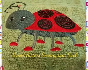 Doodle bug kitchen towel