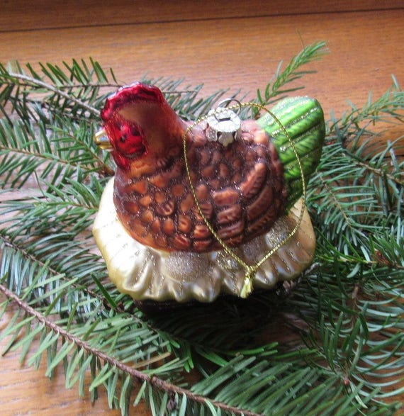 Red Hen Christmas Tree Ornament