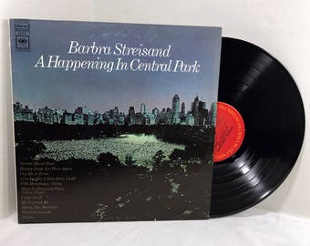 Barbra Streisand A Happening In Central Park vinyl record 1967 EX