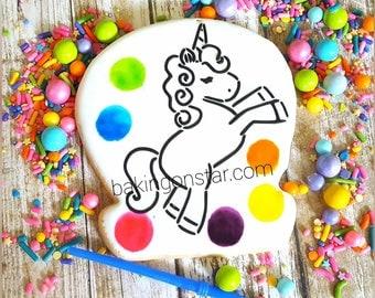 12 gourmet sugar cookies: unicorn #2