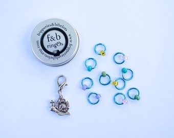 ringOs  - Snag-Free Ring Stitch Markers for Knitting - custom made by Fripperies&Bibelots for SnailYarn