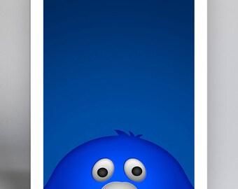 Minimalist Mascot - Blue Blob - Xavier University