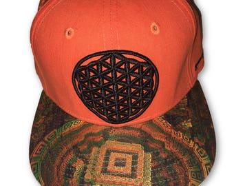 Flower Of Life Snapback Strapback Hat Festival Hat Rave Clothing