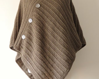 Poncho in Olive Green