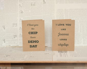 Fixer Upper Cards: Chip and Jo Love