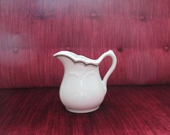 Sterling China Green Stripe Restaurant Ware Cream/Milk Pitcher  #17186