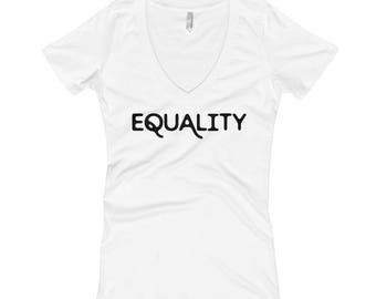 Women's Equality Collection v-neck t-shirt - white