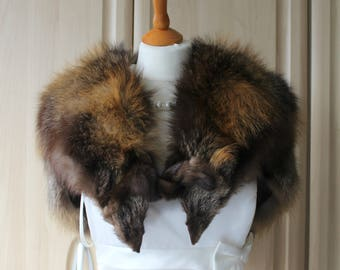 Vintage Real Cross Fox Fur Shoulder Stole, Wedding / Occasion SS3
