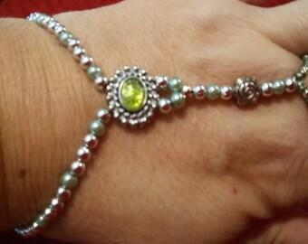 Bracelet, Slave bracelet, jewelry, hand-wear, accessories. green or lavender,