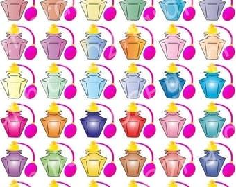 15% Sale Vintage Perfume Clipart, Antique Clip Art, Vector Clipart, Digital Scrapbooking, Graphic Artwork, PNG&JPEG, Digital Clipart, Commer
