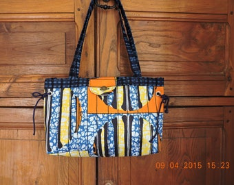 African fabric bag. France