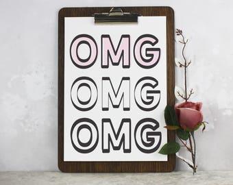 Omg Typography Print