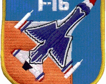Aviation Patch F16 Falcon USAF air force badge