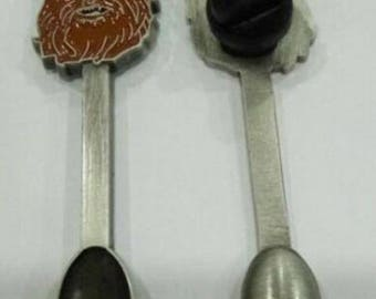 Chewbacca Hat Pin Spoon Pendant - Miniature Spoon - Hat Pin - Rebel Necklace Pendant